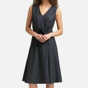 NWT $129 DKNY Women's Size 14 Navy Denim Dress
